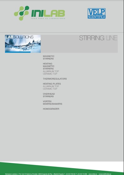 Catalogo Velp Scientifica Stirring Line de Inilab
