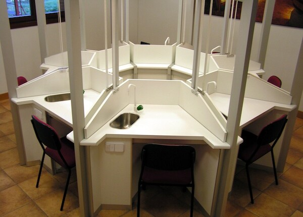 mesas de cata laboratorio
